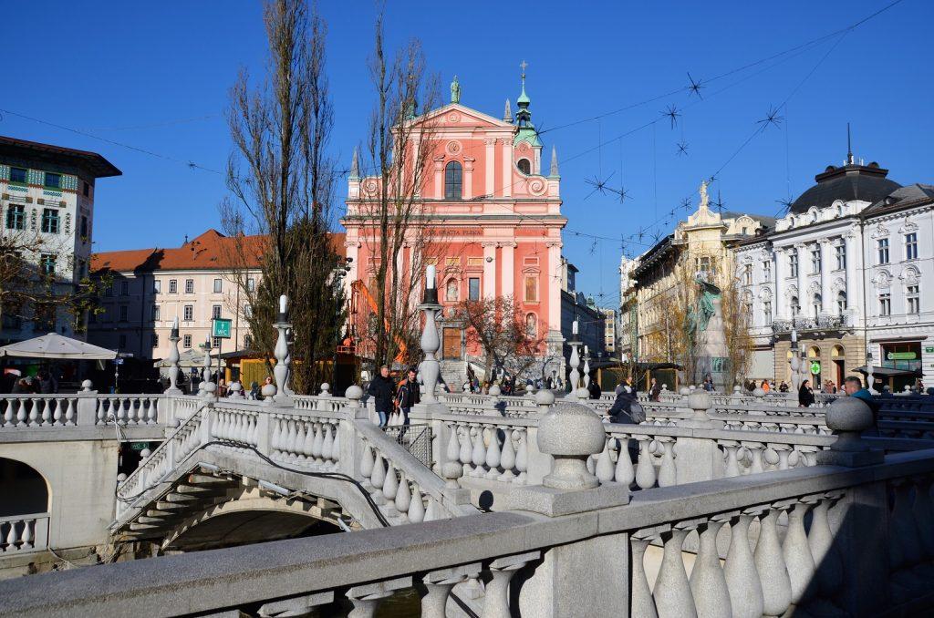 Drievoudige brug in Ljubljana